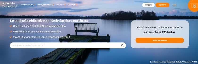 Nationale Beeldbank website Nederlandse beeldbanken