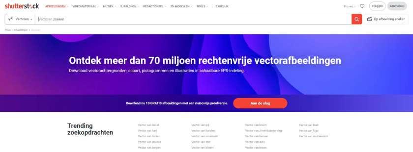 Shutterstock vectorafbeeldingen