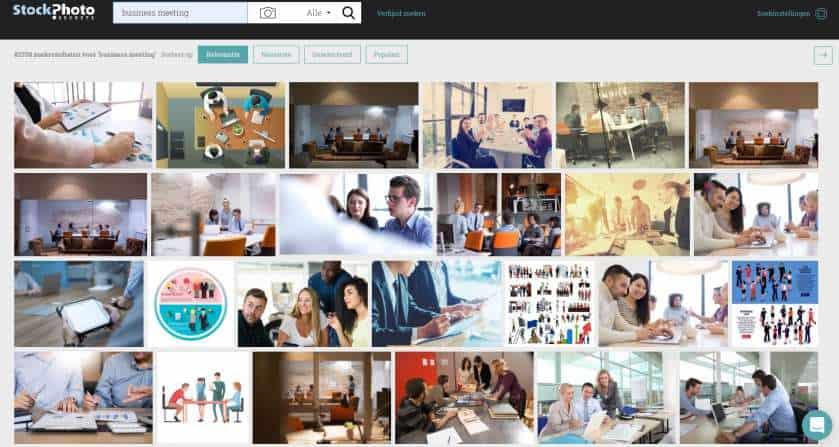 Sneller stockfoto's vinden bij StockPhotoSecrets