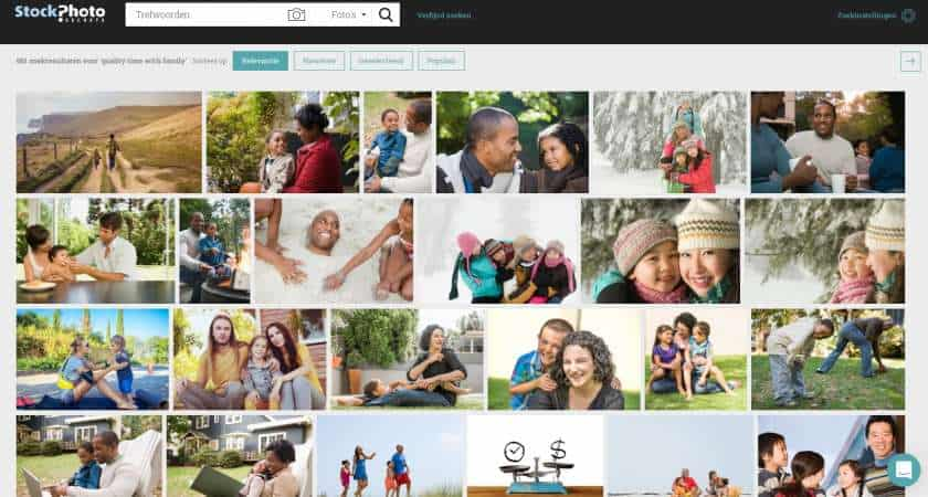 StockPhotoSecrets Shop sneller stockfoto's vinden