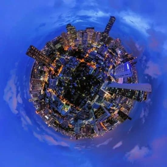360 foto van een stad