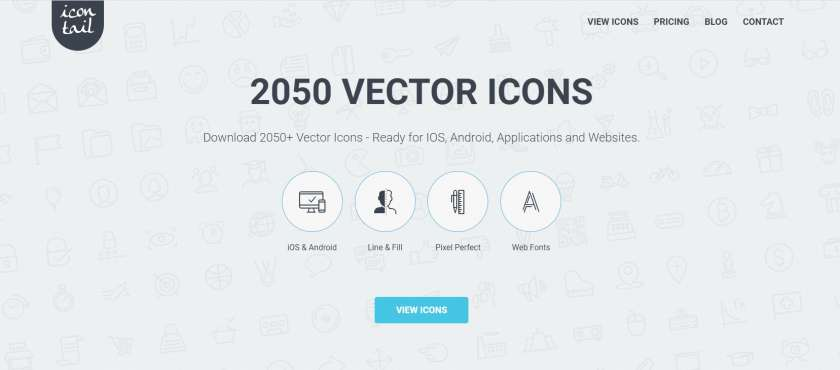Icontail! - 2050+ iconen en pictogrammen in 1 pakket met 50% KORTING! 1