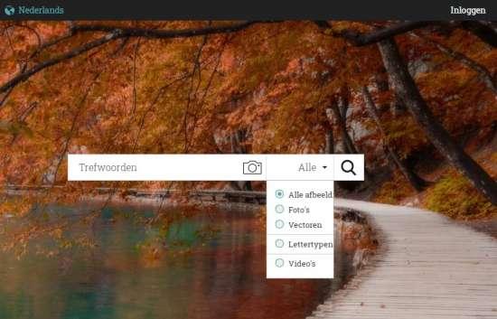 Zoekfilters gebruiken StockPhotoSecrets