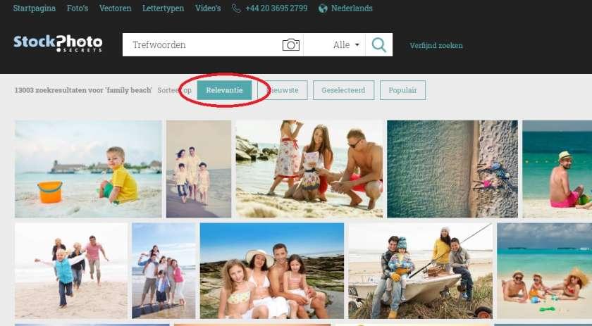 StockPhotoSecrets Shop zoekfilters