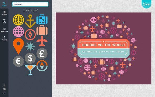Ontwerpen met Canva - Travel icons