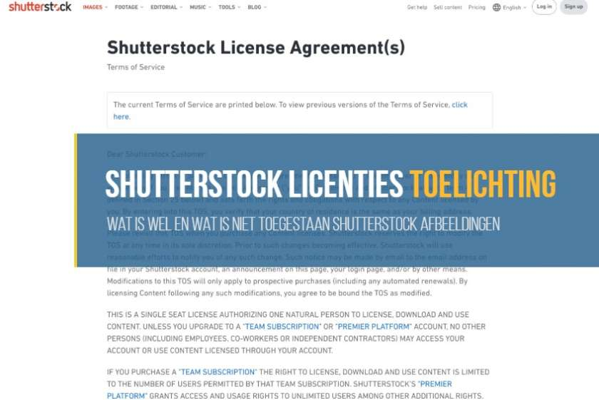 Shutterstock licenties: Wat mag wel en wat mag niet 1