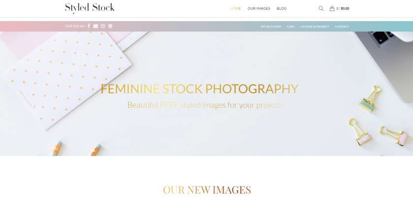 Styled Stock screenshot website