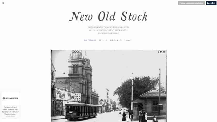 New Old Stock screenshot website