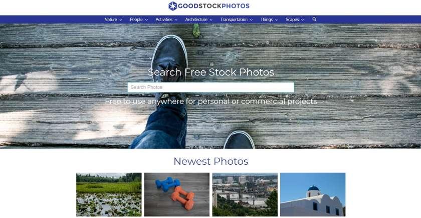 Good Stock Photos screenshot website