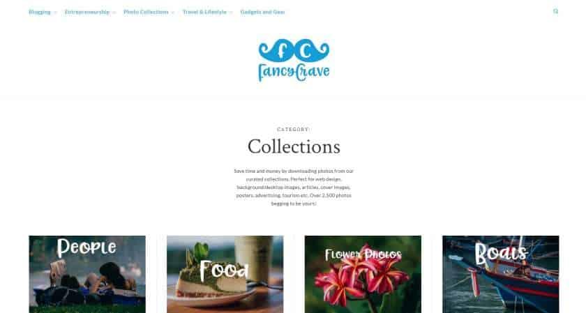 Fancy Crave screenshot website