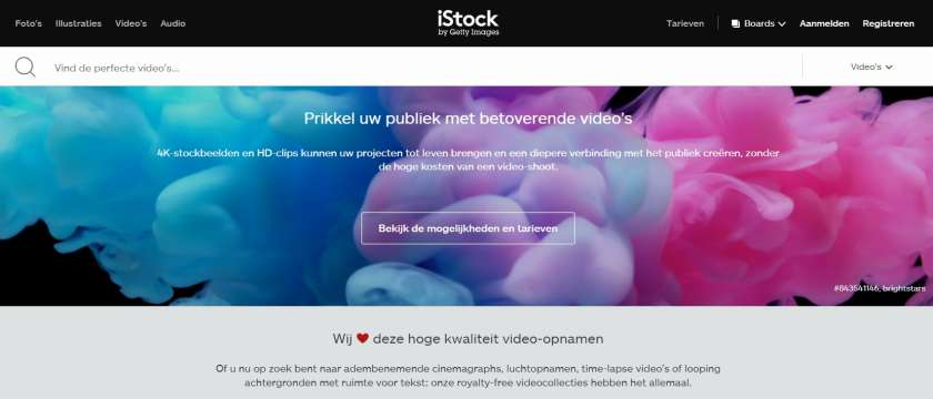 iStock screenshot website