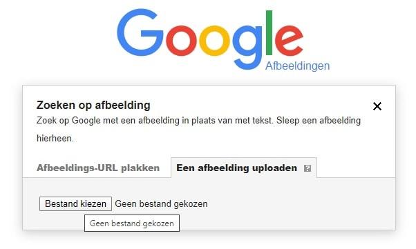 Google Afbeeldingen een afbeelding uploaden