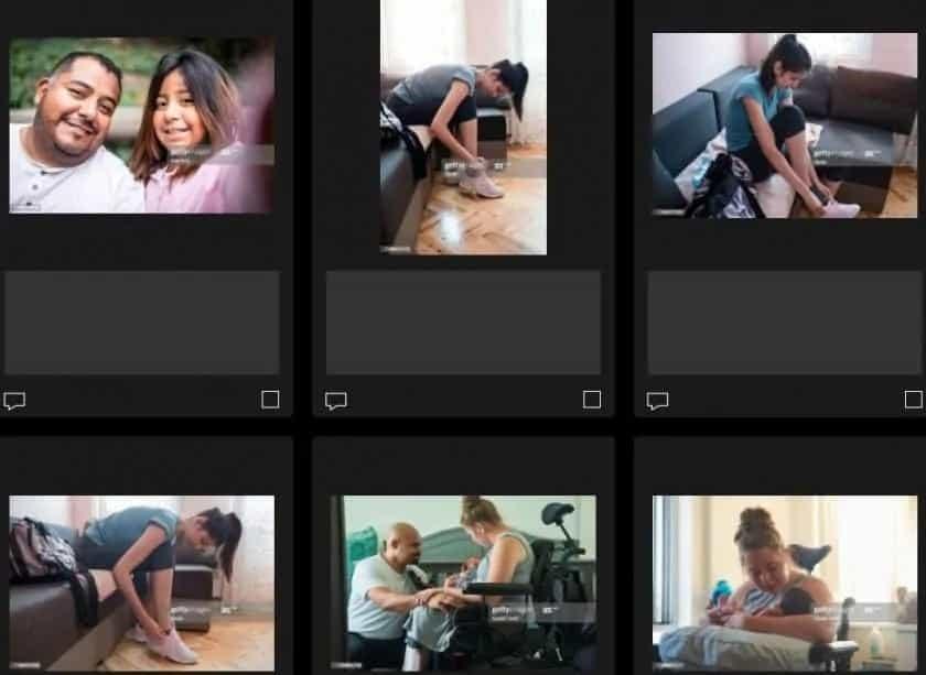 Getty Images afbeeldingen van mensen met een beperking
