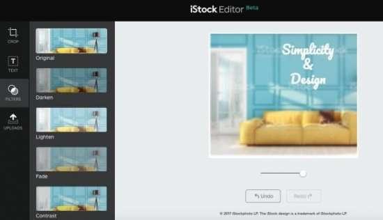 iStock editor screenshot