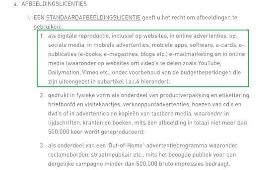 Shutterstock licentieovereenkomst