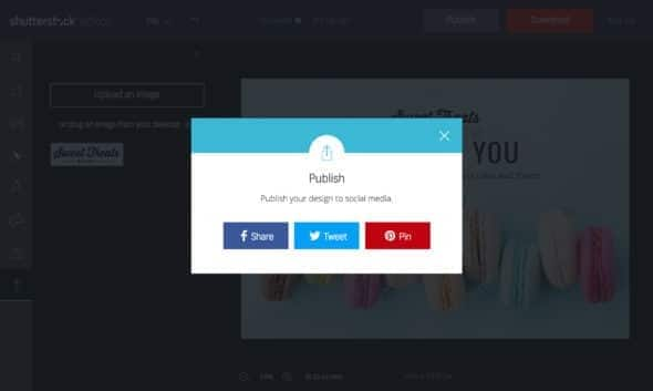 Shutterstock Editor Publicatie-functie