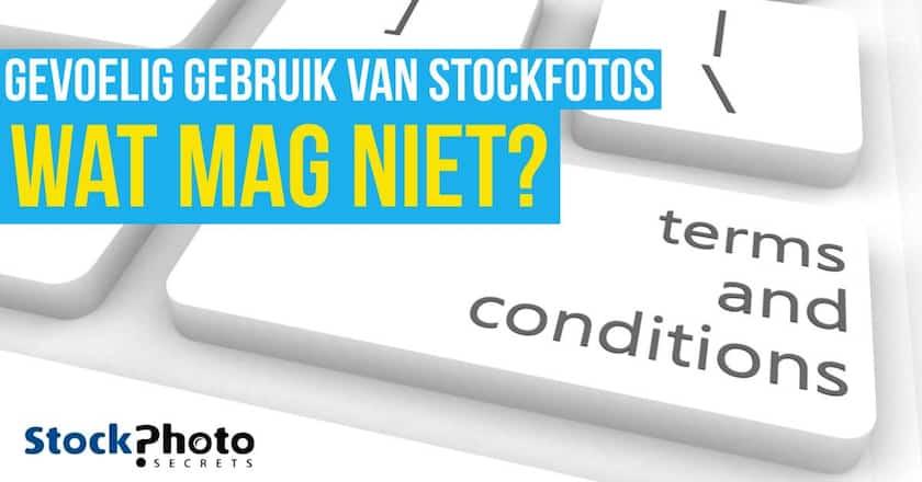 Gevoelig gebruik van stockfoto's - Wat mag wel en wat mag niet? 1