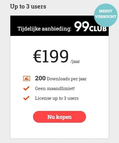 99club multi-user abonnement meerdere gebruikers