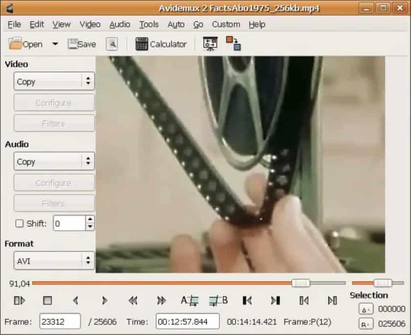 Avidemux gratis videobewerker