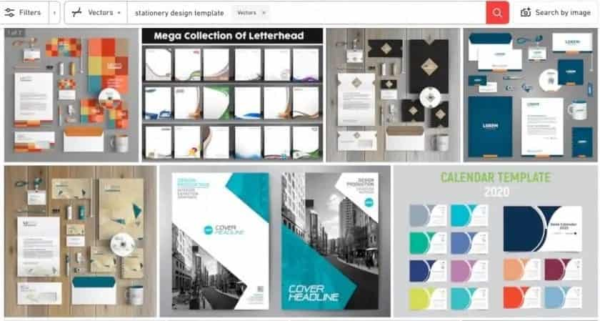 Shutterstock screenshot huisstijl ontwerp