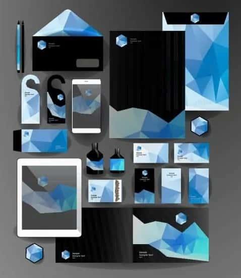 Foto van huisstijl ontwerp items