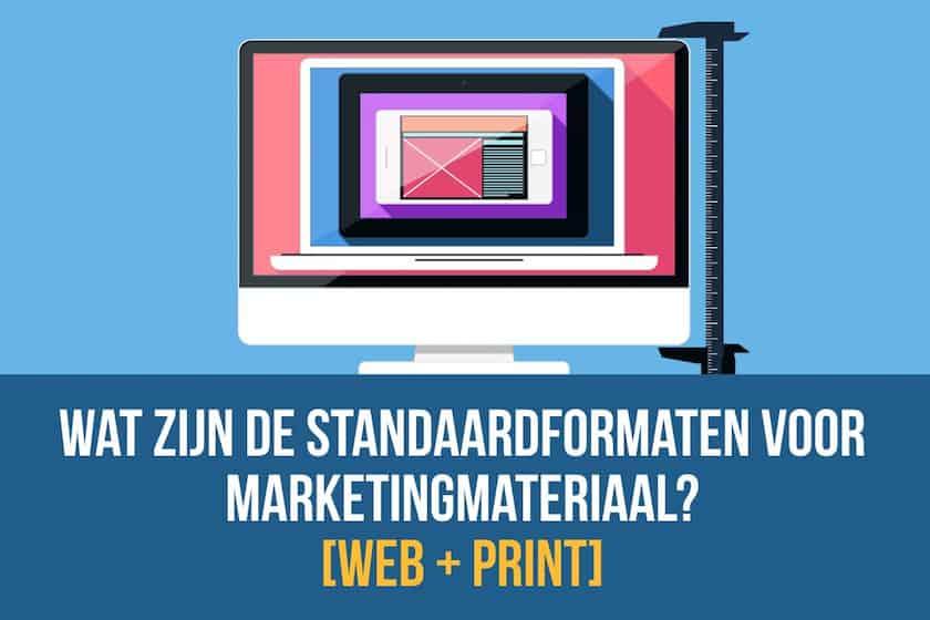 Wat zijn de standaard fotomaten voor marketingmateriaal? 1