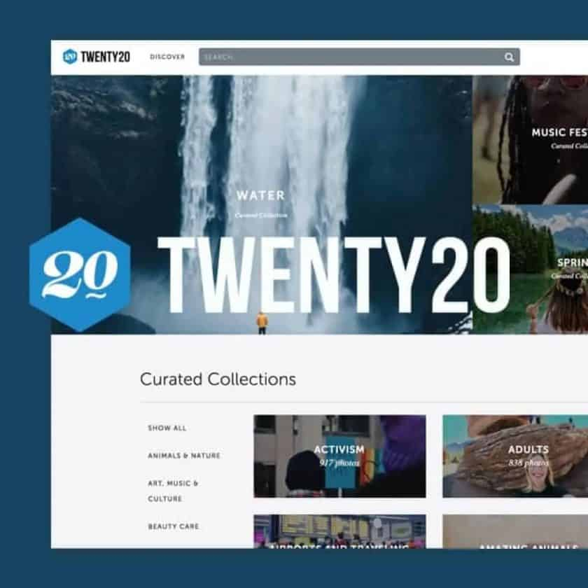 Screenshot website Twenty20