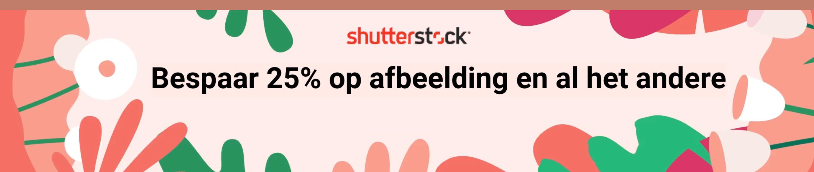 Shutterstock 25% korting