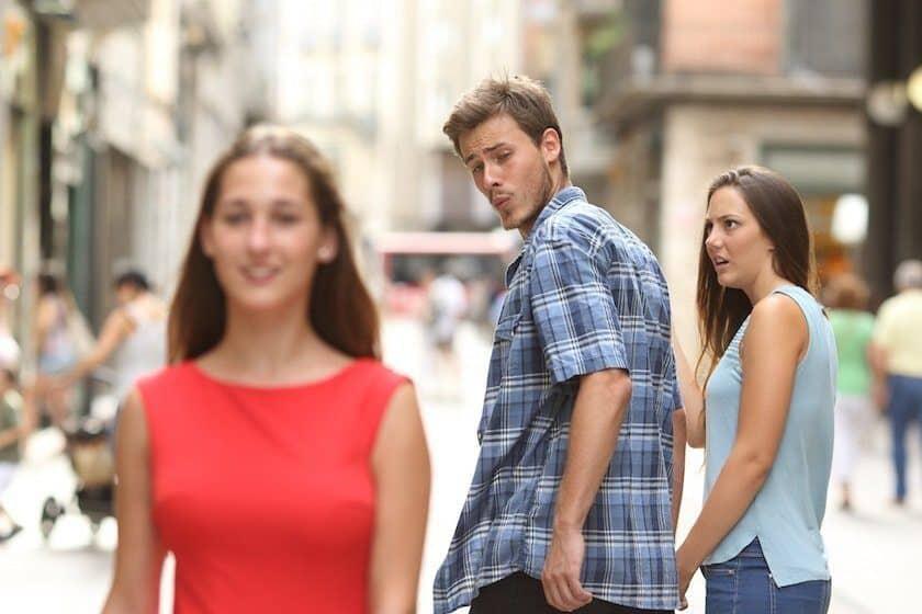 Stockfoto memes afgeleid vriendje