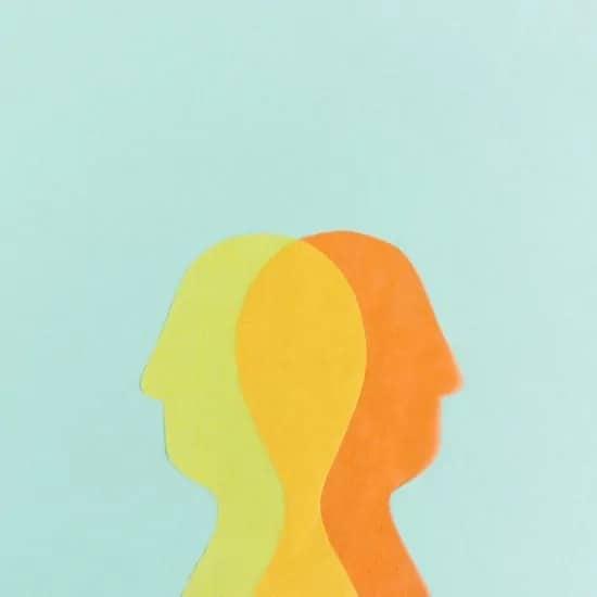 Profiel van een hoofd in de beste kleurencombinaties