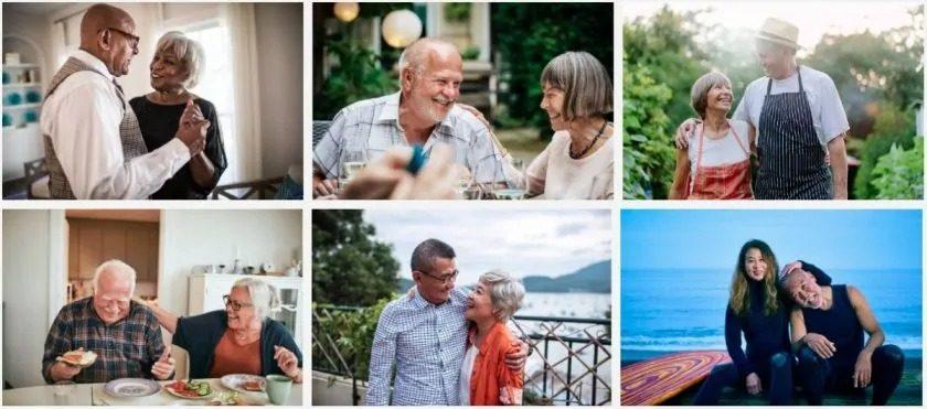 Getty Images senioren stockfoto's