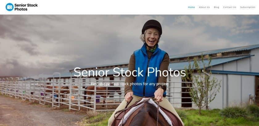 Senior Stock Photos website screenshot
