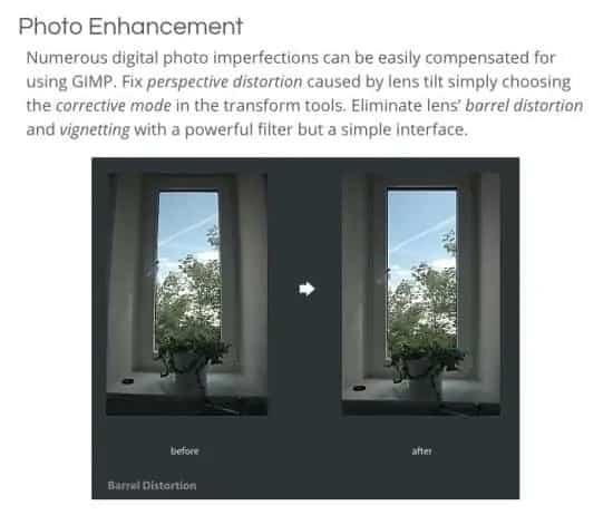 GIMP website screenshot