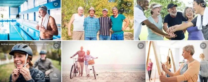Shutterstock senioren afbeeldingen