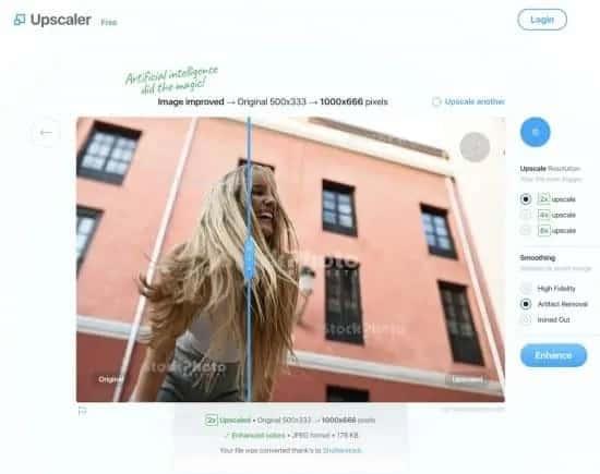Stockphotos.com beeld upscaler