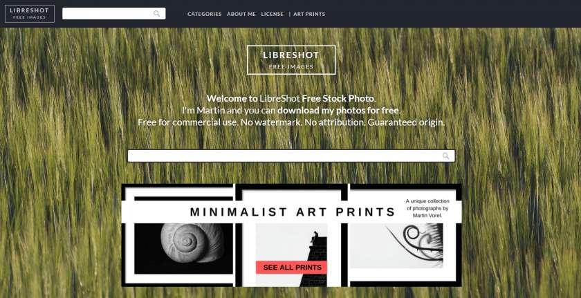 Libreshot website