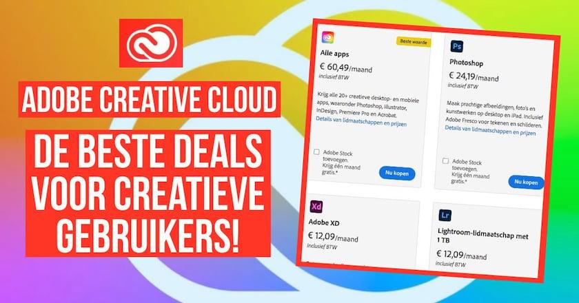 Adobe Creative Cloud kortingen: de beste aanbiedingen! 1