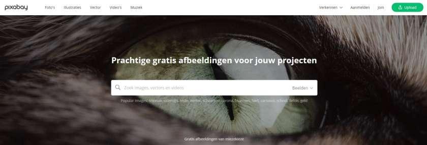 pixabay website screenshot