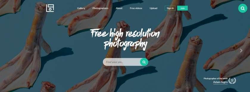 Life of pix website screenshot