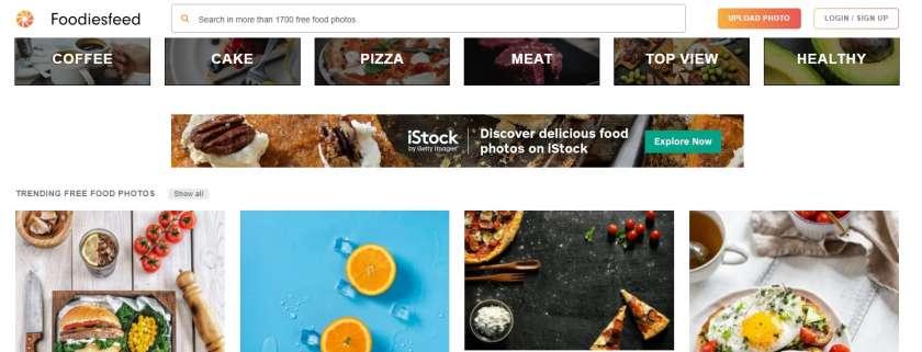 Foodiesfeed website