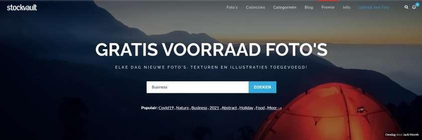 Stockvault website