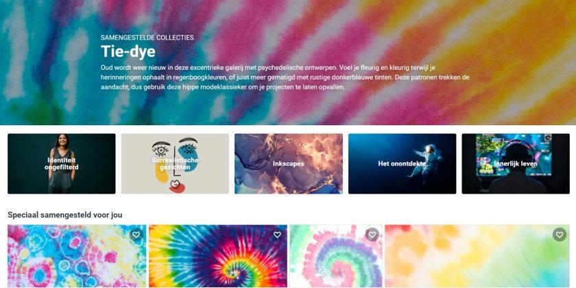 Shutterstock tie-dye patronene