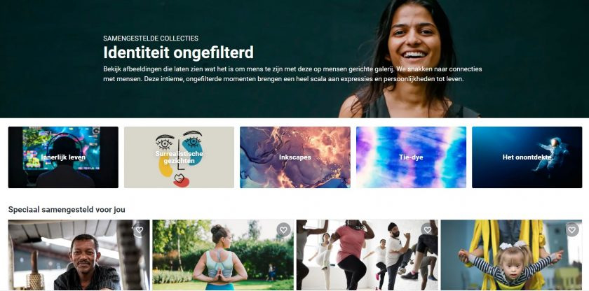 Shutterstock indentiteit ongefilterd