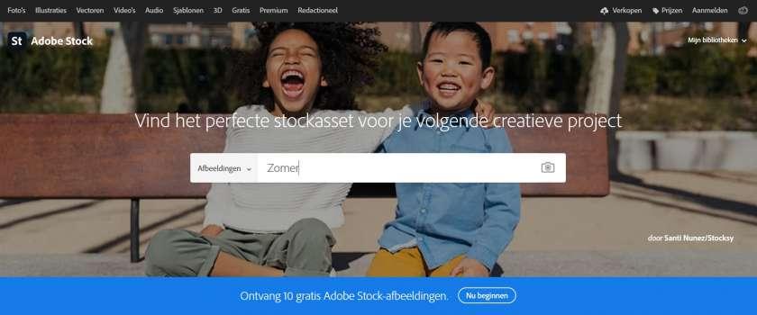 Adobe Stock website