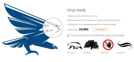 www.signsilo.com homepage vinyl ready
