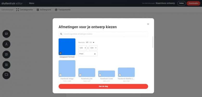 Shutterstock gratis ontwerpsoftware