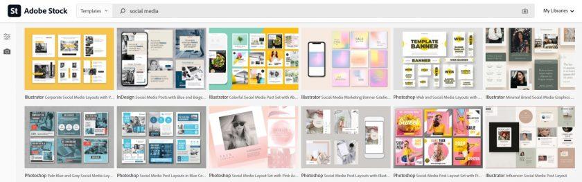 Adobe Stock sociale media afbeeldingen