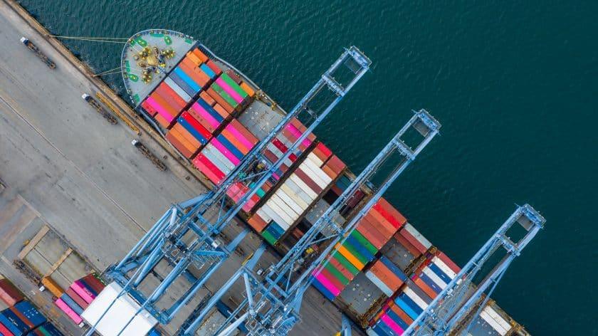 Transport stockfoto schip