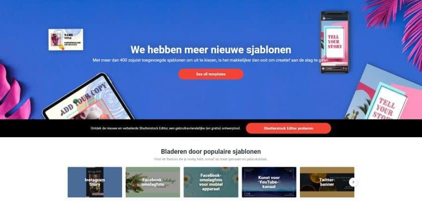 Shutterstock sociale media afbeeldingen