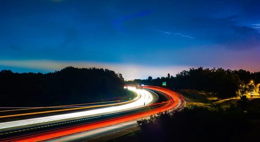 Avond verkeer